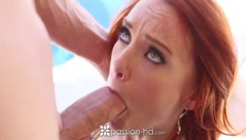 Hottie loves to have a big cock inside her mouth